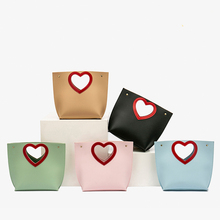 New Unique Design PU Leather Love Shape Hollow Handbag Casual large Capacity Tote Fashion Personality Ladies Diagonal Bag Women