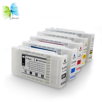 WINNERJET 350ml 5 Colors Compatible Ink Catridge with Pigment Ink and One Time Use Chip for Epson T5070 Printer