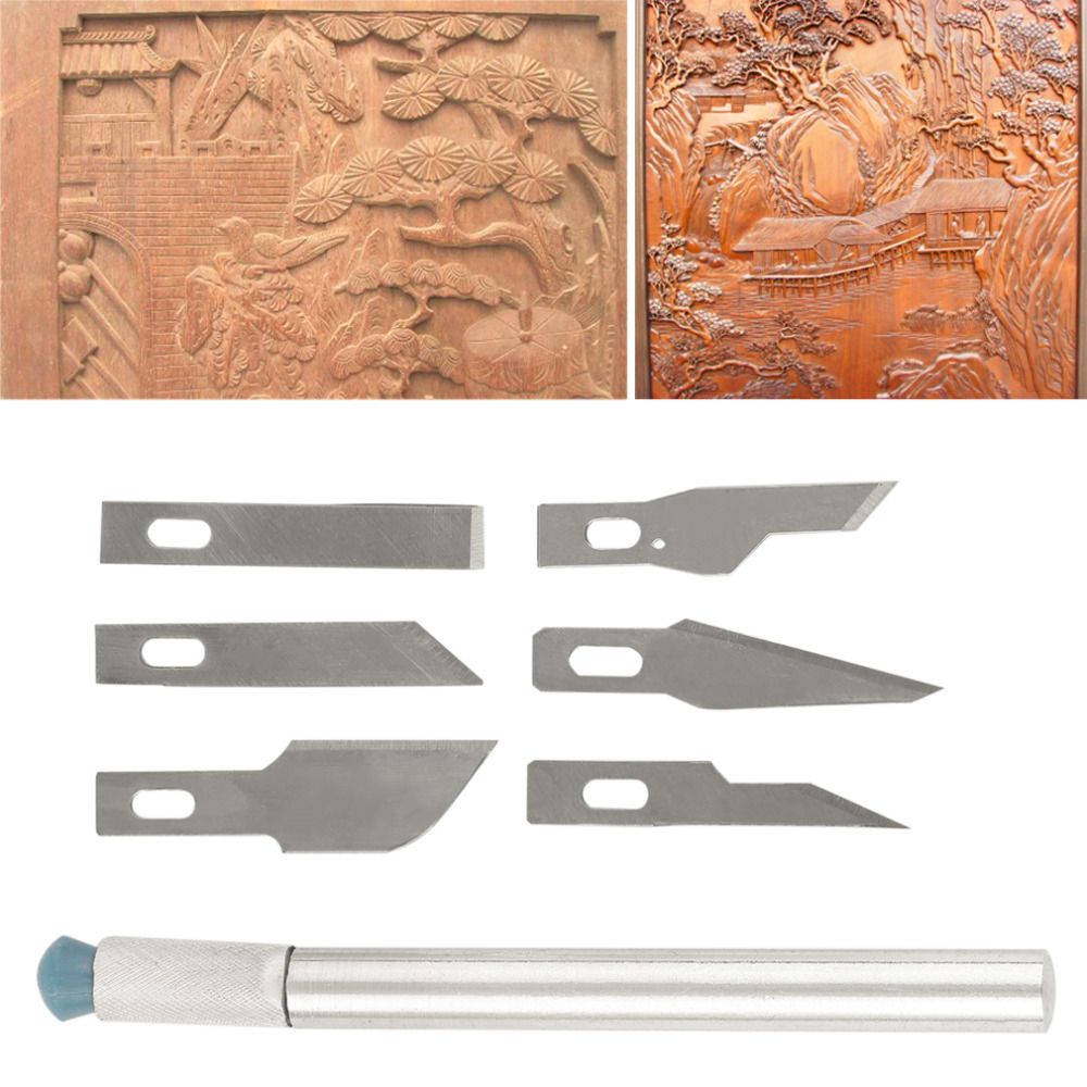2017 New Hot Multi-function Scrapbooking Model Hobby Crafts Carving Knife Blade Tool Set New