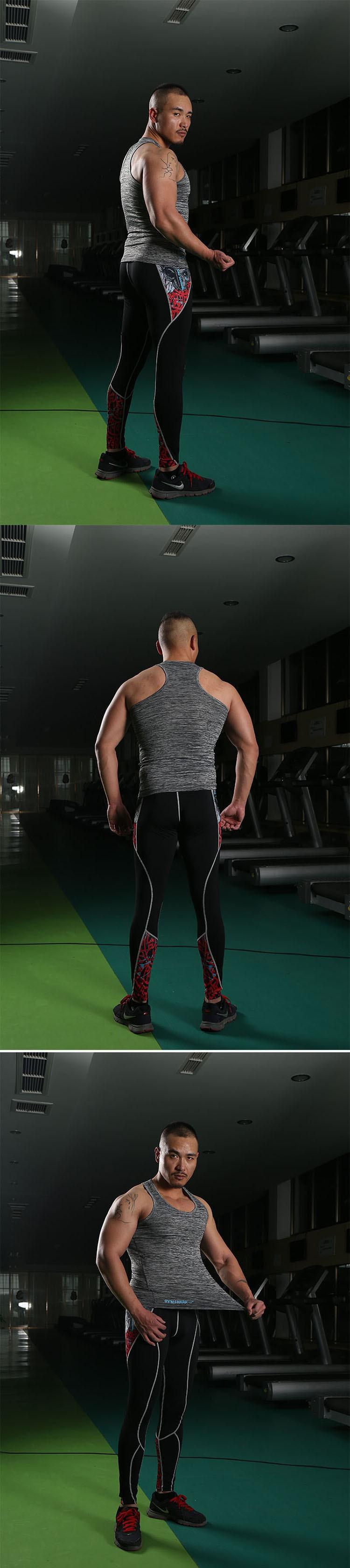 Gym Tank Tops Men Undershirt Sports Wear GymShark Singlet Bodybuilding Basketball Fitness Training Tight Vest Sleeveless Shirt (8)