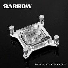Barrow rbg x99 şeffaf akrilik intel için cpu su bloğu 0.4mm microcutting mikro suyolu 2011-v3 ltyk3x-04