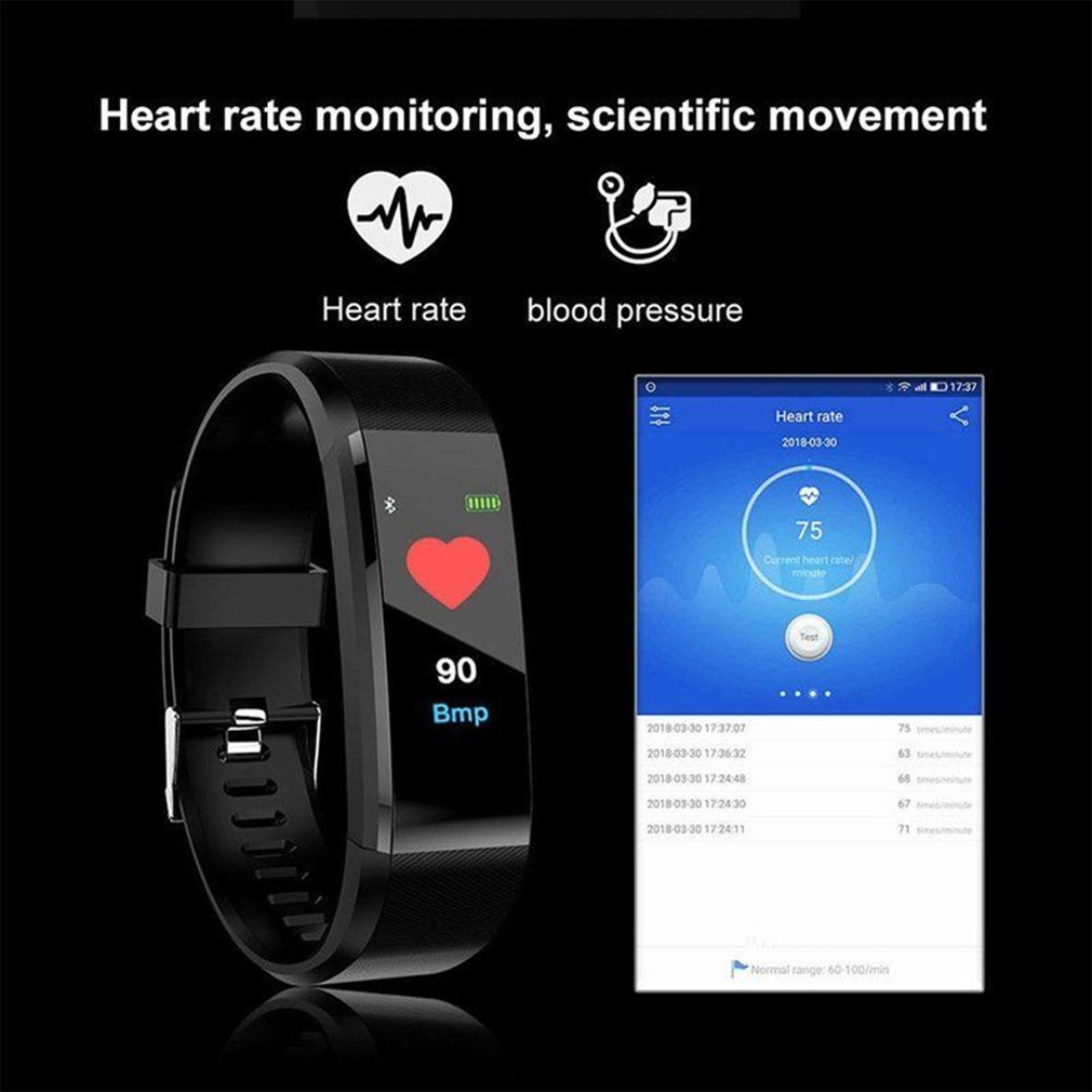 115 PLUS Watch New Smart Watch Men Women Heart Rate Monitor Fitness Tracker Smartwatch Sport Watch With Boxes For Drop Shipping