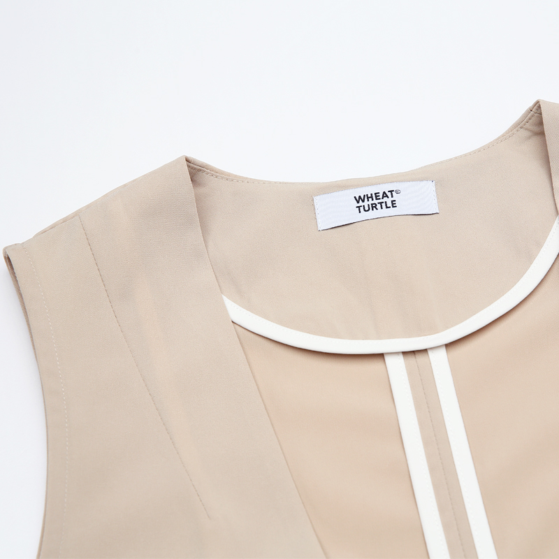 cou Veste Vêtements Unique Manches V Tortue Poitrine Manteaux Minimaliste Blé Vestes De Femmes qp8w6WZ7E