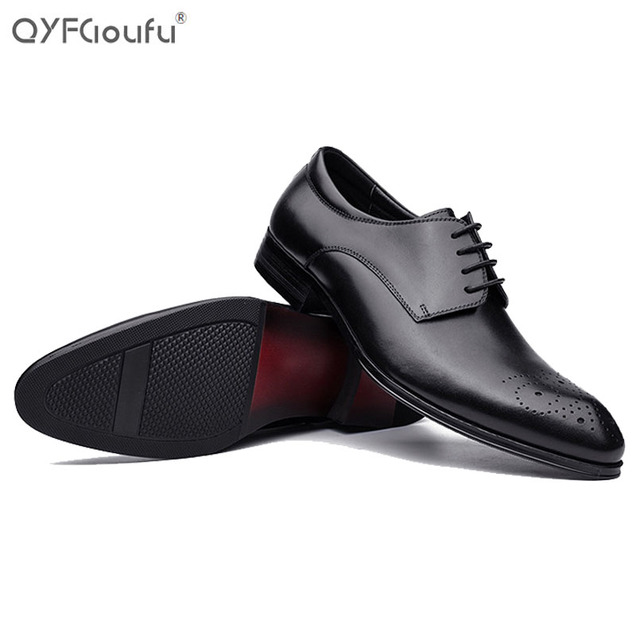 f003bb14a6 Italy most popular mens dress shoes luxury brand Genuine Leather oxford shoes  men vintage black brown Lace wedding shoes mens