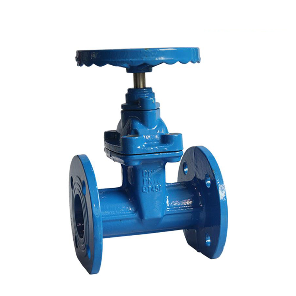 Dn350 14 Inch Ci Pn16 Cast Iron Non Rising Stem Resilient