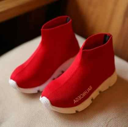 Children casual shoes AI LIANG female sneaker child high elastic foot wrapping snow boots kids knitted socks shoes baby shoes