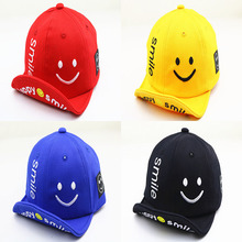 Baby Cuffed Baseball Caps Cute Style Children Spring Outdoor Smiley Cotton Cap Fashion Kids Hat Boys And Girls