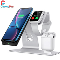 QI Wireless Charger Fast Charging for Samsung S8 S9 Apple Watch Airpads iPhone 8 X Mobile Phone Stand Quick Charge 2.0 CinkeyPro
