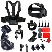 25-in-1 go pro Accessories Kit with Worst/Head/Chest Strap Mount for GoPro Hero 5 session 4/3+/2/1 DBPOWER AKASO VicTsing APEMAN