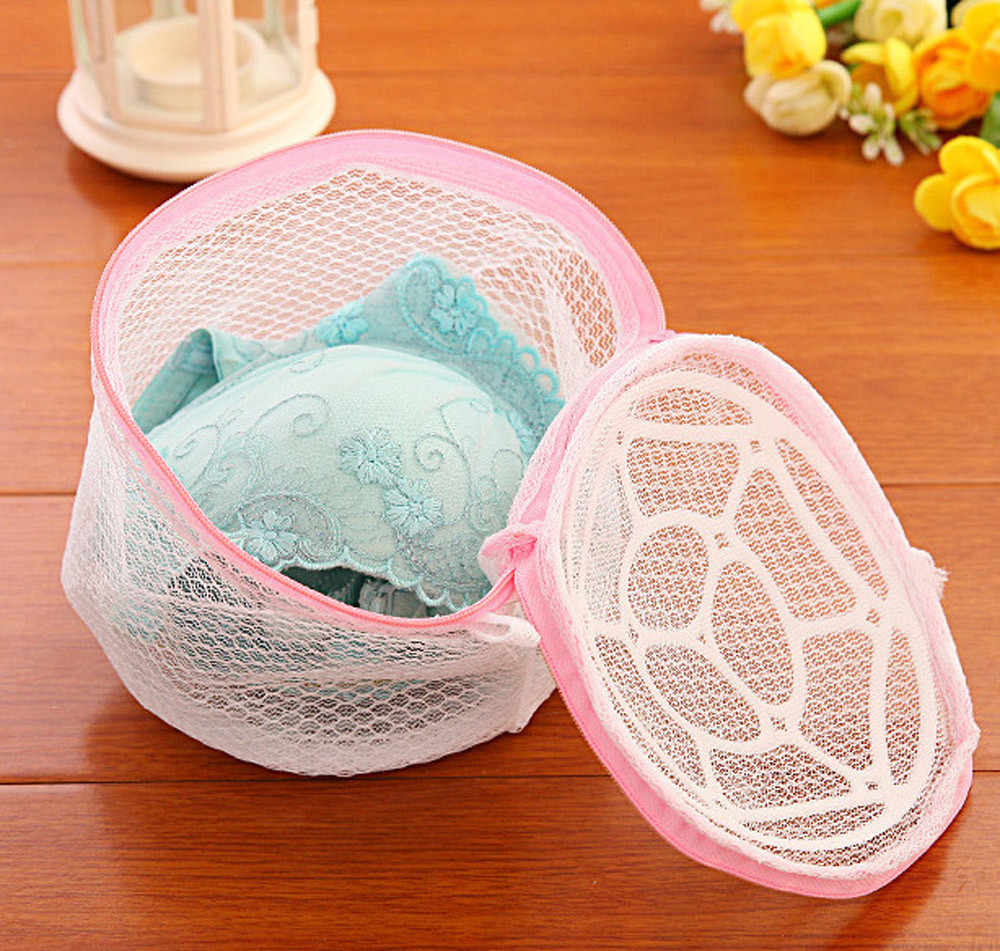 2018 New Lingerie Underwear Bra Sock Laundry Washing Aid Net Mesh Zip Bag Rose  2018