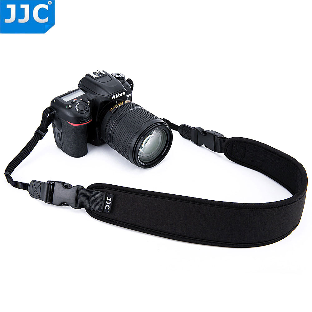 JJC Neoprene DSLR Camera Belt Wide Quick-Release Black Neck Shoulder Strap For Canon/Nikon/Sony/Pentax/Olympus