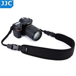 Jjc neoprene dslr câmera cinto largo de liberação rápida preto pescoço alça de ombro para canon/nikon/sony/pentax/olympus