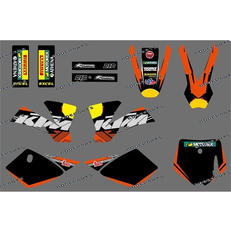 2002-2008 For KTM Mini Adventure Replica Model MT50 MTK50 Deco Decals Stickers