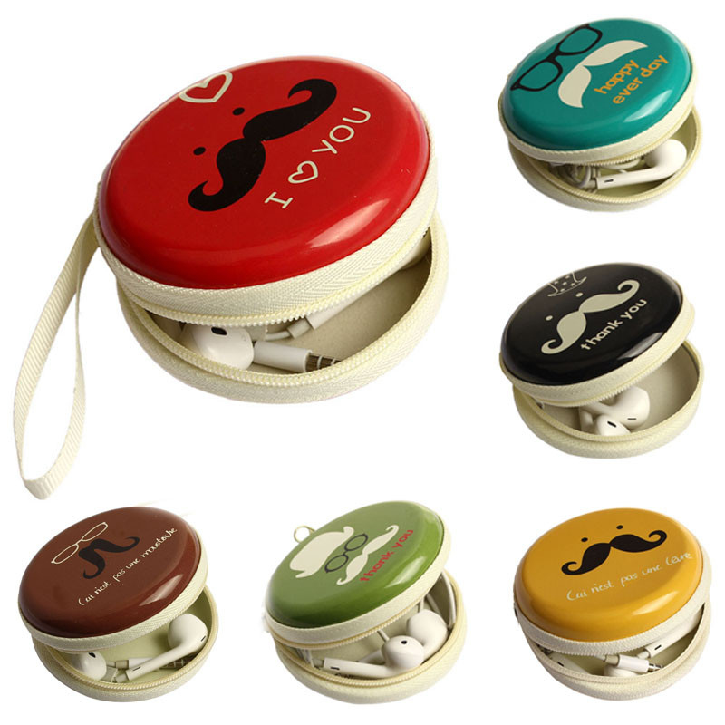 1Pc SD Portable Mini Zipper Hold Case Storage Carrying Hard Bag Box Headphone Earbuds SD TF Cards Pouch Free Shipping