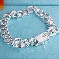 Sterling Silver 925 Jewelry 925 Sterling Silver Twisty Round Chains Links Silver Cuff Bangles Bracelets H037