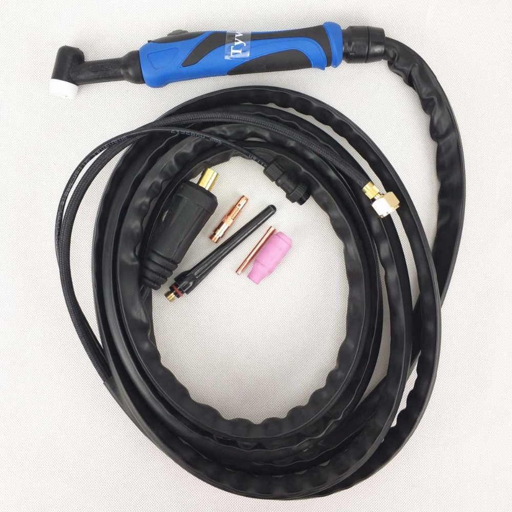 Tig Welding Torch WP26 WP17 TIG Gun TIG26 Argon 4 Meters 13ft Air Cooled Torch For 180A-220A TIG Welding Machine