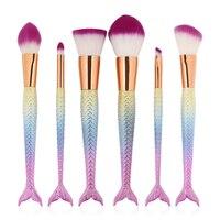 Genkent Professional Affordable Makeup Brushes Make Up Brush Set Foundation Brush Mermaid Shape High Quality