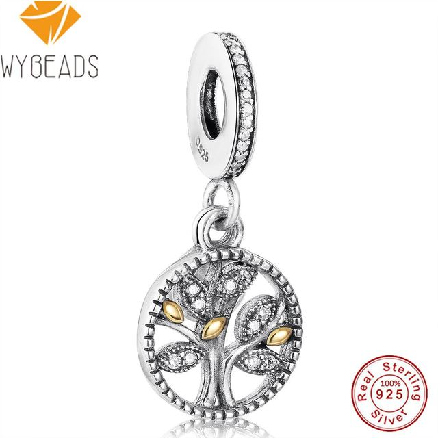 [Sponsored]Bling Jewelry CZ Family Tree of Life Charm 925 Sterling Silver Bead for European Bracelet mhf2nUcc