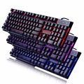 Moobom DB-A8 Mechanical Feel Gaming Keyboard 3 Color Backlit LED USB Wired Game Keyboard Black