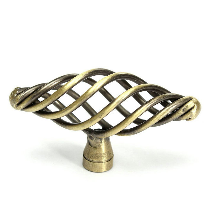 antique bronze cabinet hardware knob oval birdcage design kitchen cupboard handles closet dresser handles drawer pulls