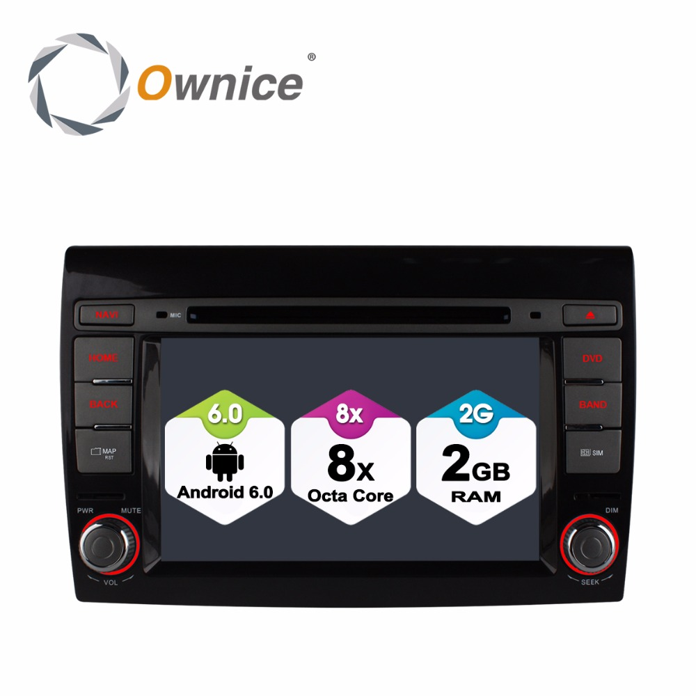 HD 1024 Octa Core 2GB RAM Android 6 0 Car DVD For Fiat Bravo 2007 2008