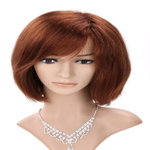 Full Shine Short Bob Front Lace Wig Virgin Hair Short Straight Lace Front Wig With Baby Hair For Black Women Honey Blonde Color