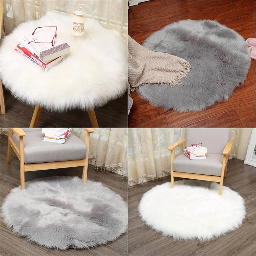 60 60cm Soft Small Artificial Sheepskin Rug Chair Cover