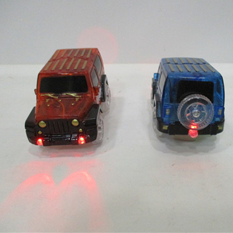 LED Liminous Cars For Magic Track Electronics Car Toys With Flashing Lights Funny DIY Toy Cars Gifts For Kids Children
