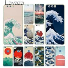 Lavaza Wave Art Japanese Green Illust Classic Case for Huawei P30 P20 Pro P9 P10