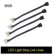 Светодиодные Ленты RGB Аксессуары 5 шт. 10 мм 4PIN Нет Пайки Кабель PCB доска Гибкие СВЕТОДИОДНЫЕ Полосы Разъем Для 3528 5050 RGB света