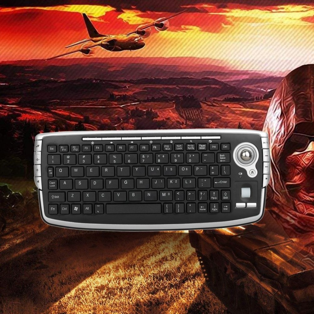 79914e64213 G13 Mini Keyboard 2.4G Wireless Trackball Keyboard With Mouse And ...