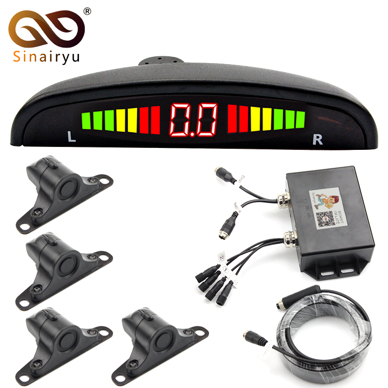 Sinairyu Best Quality DC 12V/24V Car LED Parking Sensors For Heavy Duty Trucks and Special Vehicles, Detection Range 0.3~5M xtool ps201 obd2 scanner car diagnostic tool for heavy duty trucks bus
