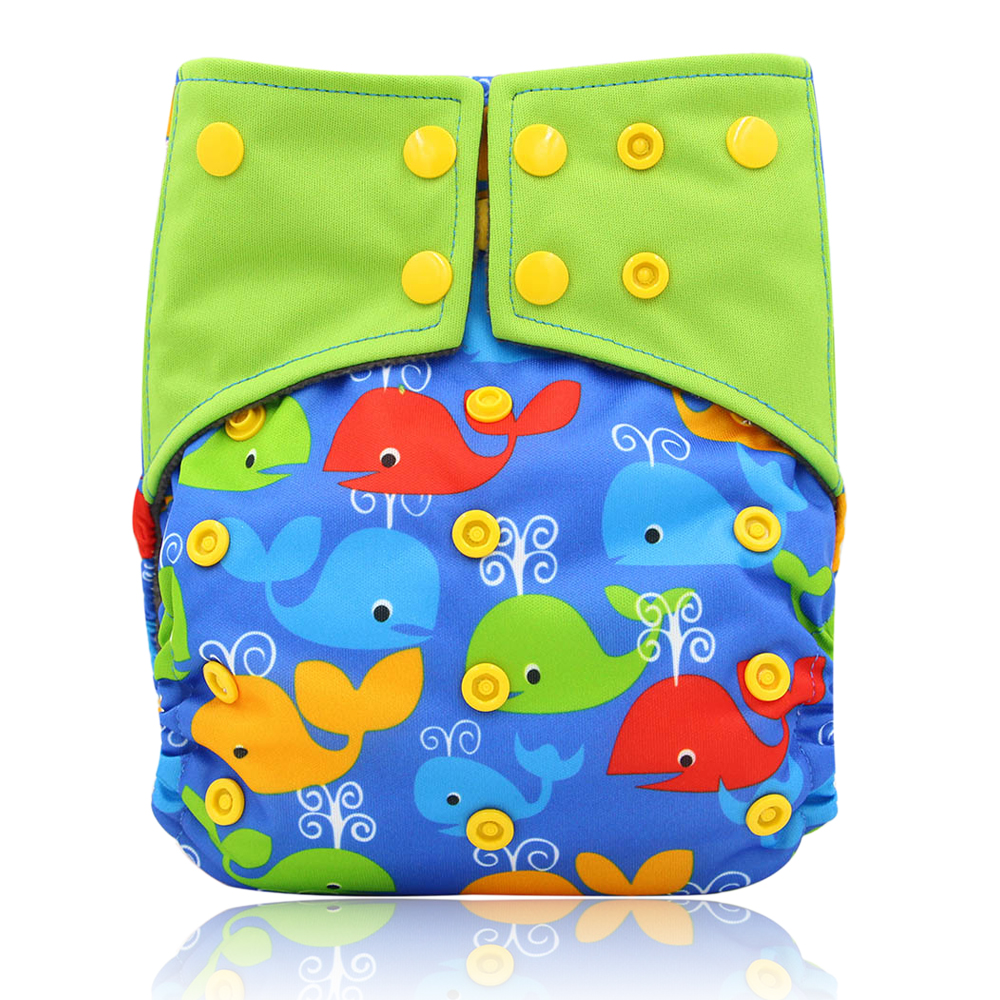 Waterproof Diaper Pul Cover All-in-two AI2 Cloth Diapers Baby Reusable Nappies Printed Pocket Diaper Cover with Double Gussets baby diapers double guest charcoal bamboo night sleepy two pockets diaper reusable cloth diapers with sewn insert layer cover