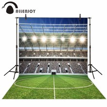 Allenjoy photographie toile de fond terrain de football sport paillettes personnalisé anniversaire fond tissu photo accessoire imprimé