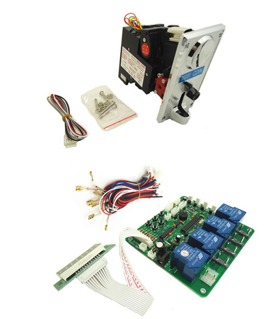 Plastic front plate KAI-738 arcade CPU coin selector with JY-21 4 digits coin operated timer board
