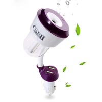 Mini Auto Air Humidificador Double USB Car Humidifier Essential Oil Diffuser Car Air Purifier Fresh Air