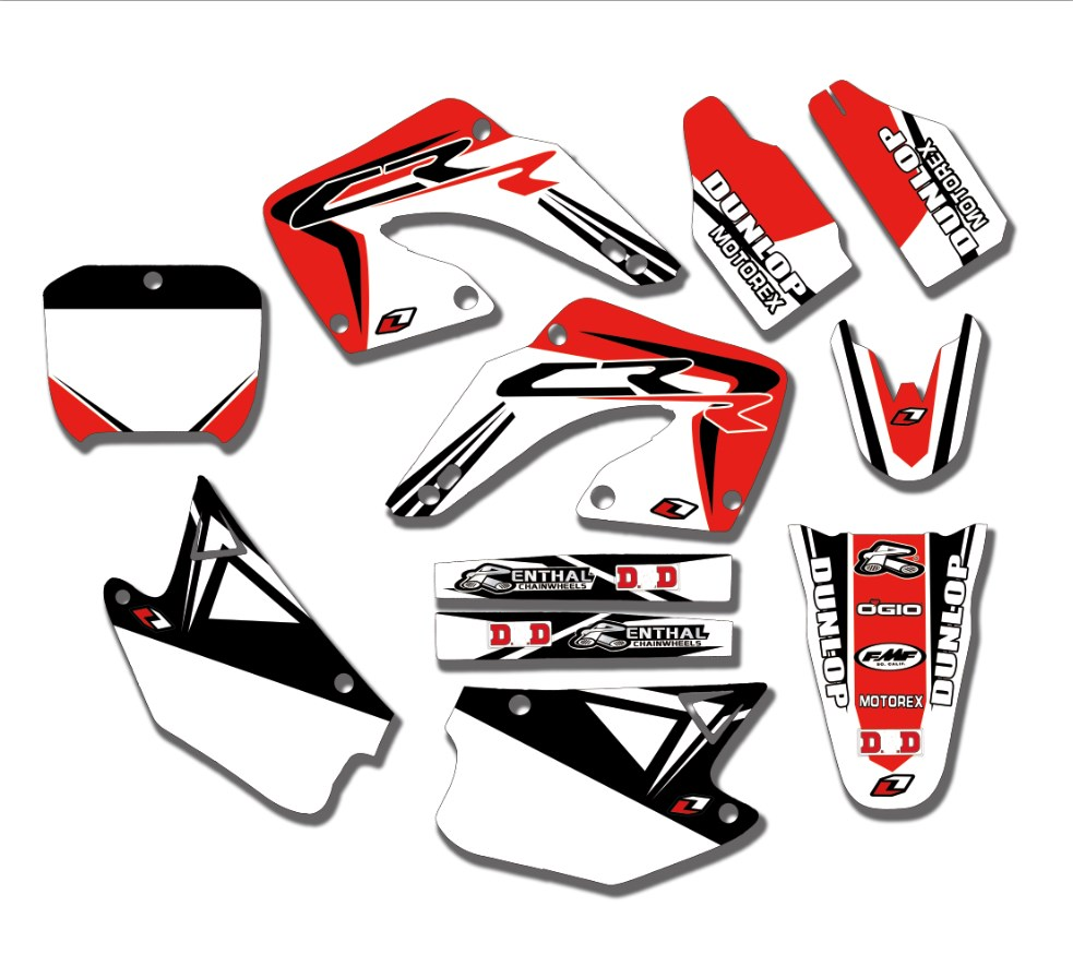 Motorcycle Team Graphics Decals Stickers For Honda CR125 CR125R CR250 CR250R 2000 2001 CR 125 250