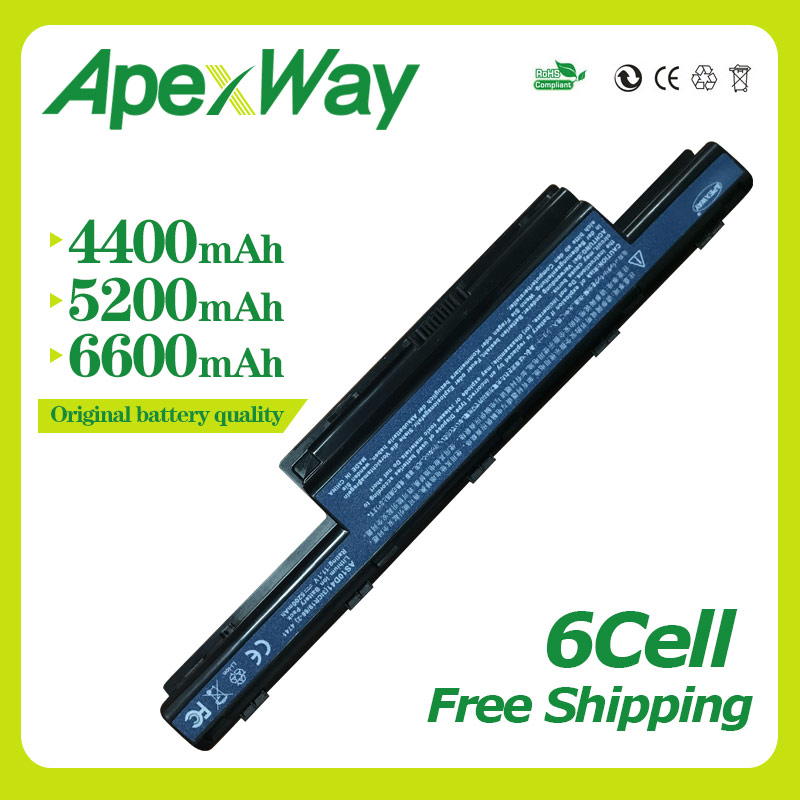 Apexway 6 Cellules 11.1 v batterie dordinateur portable pour Packard Bell Easynote TK81 TK83 TK87 TK85 TK37 AS10G3E TS11HR TS11SB TS13HR AS10D61Apexway 6 Cellules 11.1 v batterie dordinateur portable pour Packard Bell Easynote TK81 TK83 TK87 TK85 TK37 AS10G3E TS11HR TS11SB TS13HR AS10D61