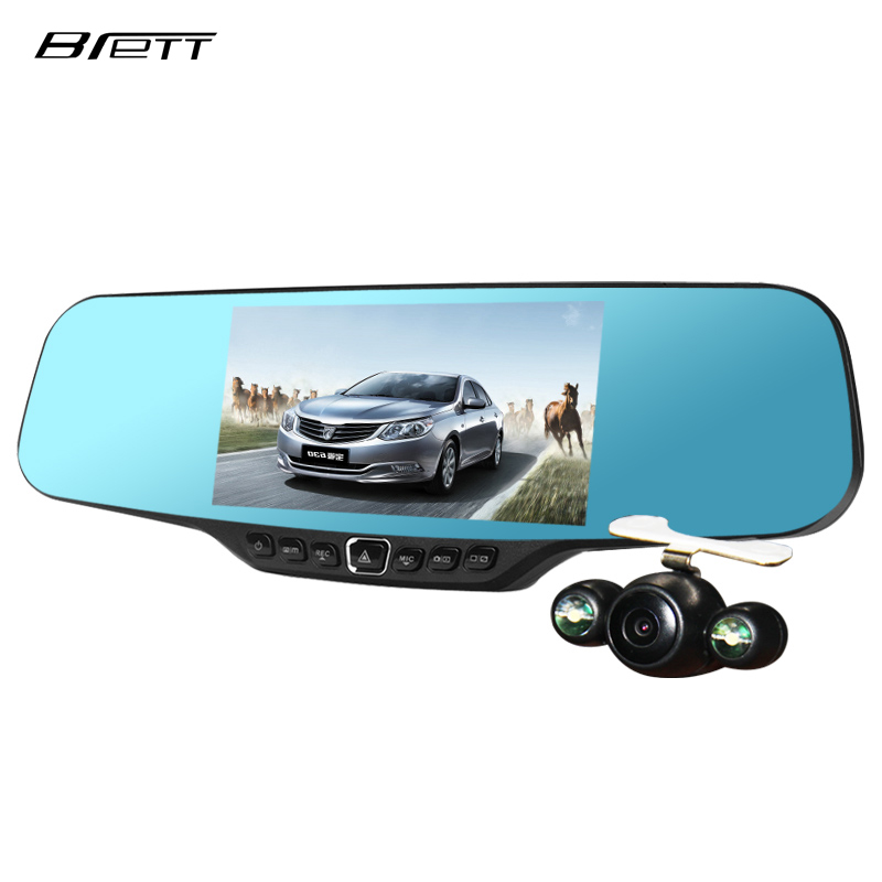Car Dvr Rearview Mirror Camera Record 4 3 Inches Full Hd