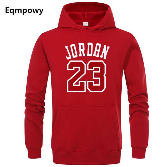 5ff84958f55 Autumn 2018 New Women/Men's Casual Players JORDAN 23 Print Hedging Hooded  Fleece Sweatshirt Hoodies