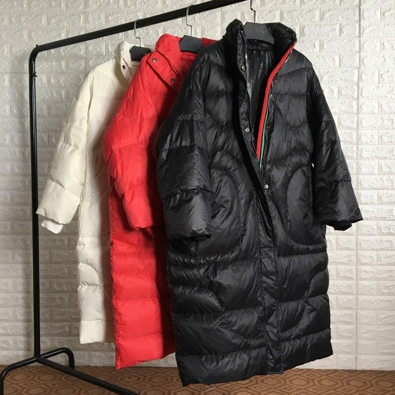 Hiver Parka manteau épaissir femmes vers le bas veste longue chaud blanc duvet de canard outwear pardessus femelle surdimensionné manteau 90 kg