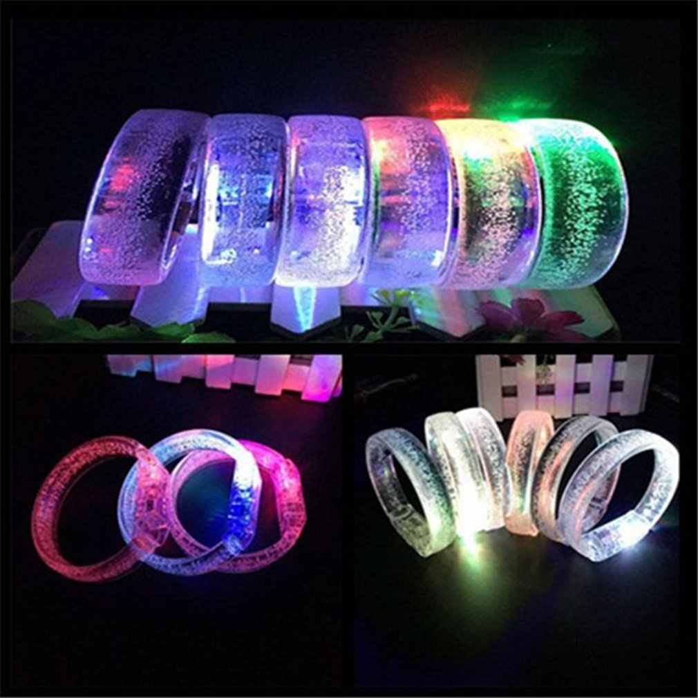 1pcs LED Flash Bracelet Colorful Light Up Bubble Bracelets Party Favors Light-Up Acrylic Bracelet LED Flashing Wristband