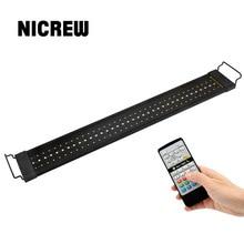 NICREW lamba akvaryum için balıkçılık LED aydınlatma 24/7 saat ile otomatik kontrol balık tankı için akvaryum ışık 110V 240V 76 96cm