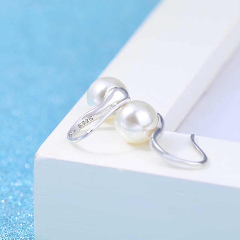 XIYANIKE 925 Sterling Silver Elegante E Semplice Perle Orecchini Con Perno Per Le Donne Sterling-argento-gioielli Boucle D' Oreille VES6218