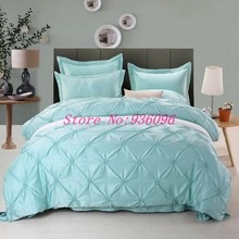 4pcs Bedding Set Silk Cotton King Queen Twin size Duvet Cover Bed Sheet Bed Linen Bedclothes Luxury Bedding sets jf046