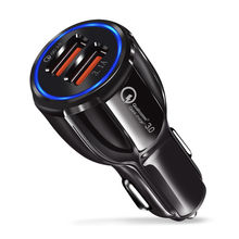 Car USB Charger Quick Charge QC 3.0 2.0 Mobile Phone Charger 2 Port USB Fast Car Charger for iPhone Samsung Tablet Car-Charger цена 2017