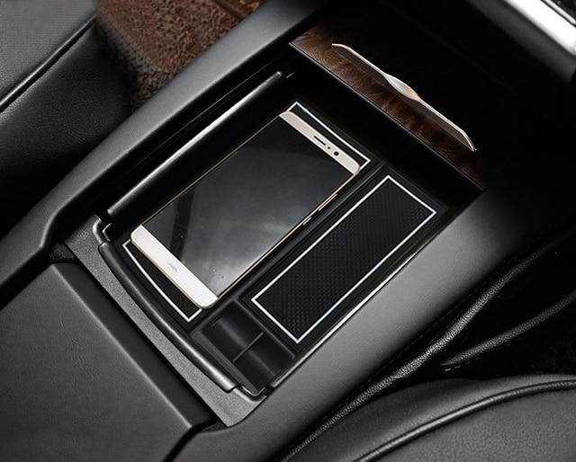 Plastic Black Armrest Interior Storage Box Decoration Cover For