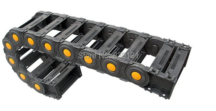 35x50mm Cable drag chain wire carrier with end connectors plastic cable drag chain for CNC Router Machine Tools 1000mm