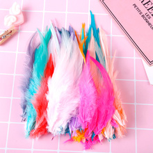 Simple Natural Feathers 11-15CM Various Colors Chicken Hair DIY Craft Wedding Party Jewelry Decoration Christmas