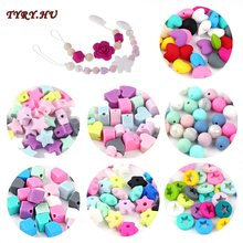TYRY.HU 20PCS/lot Silicone Beads DIY Pacifier Chain Teething Beads Baby Silicone Teether Chewing Teether Care Tooth BPA Free(China)